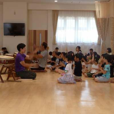 平成29年7月14日(金) ひのきや和太鼓指導(5歳児)