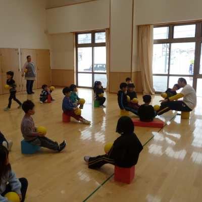 平成30年2月20日(火)ボール指導(5歳児)